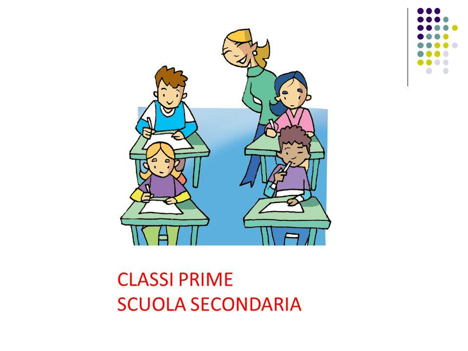 CLASSI PRIME SCUOLA SECONDARIA