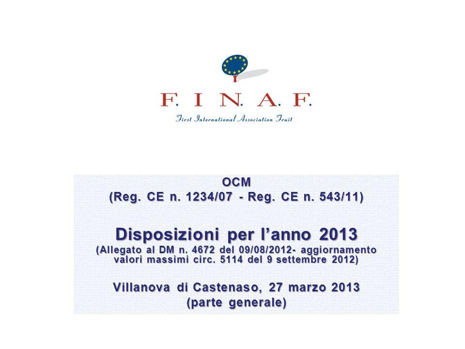 Disposizioni per l'anno 2013 Villanova di Castenaso, 27 marzo 2013