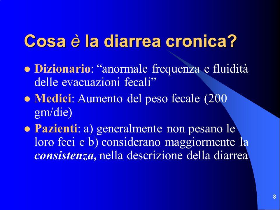 Cosa è la diarrea cronica