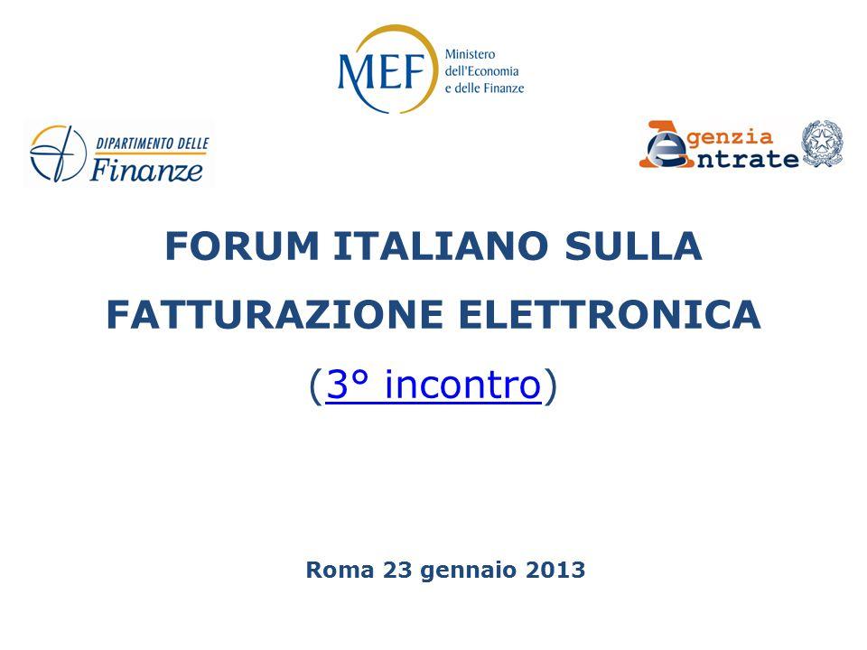 FORUM ITALIANO SULLA FATTURAZIONE ELETTRONICA