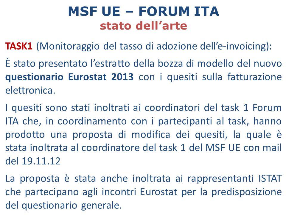MSF UE – FORUM ITA stato dell'arte