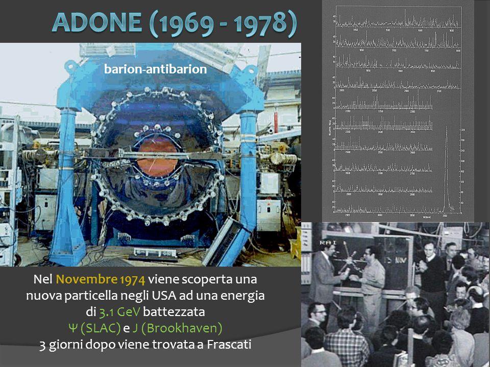 ADONE (1969 - 1978) barion-antibarion