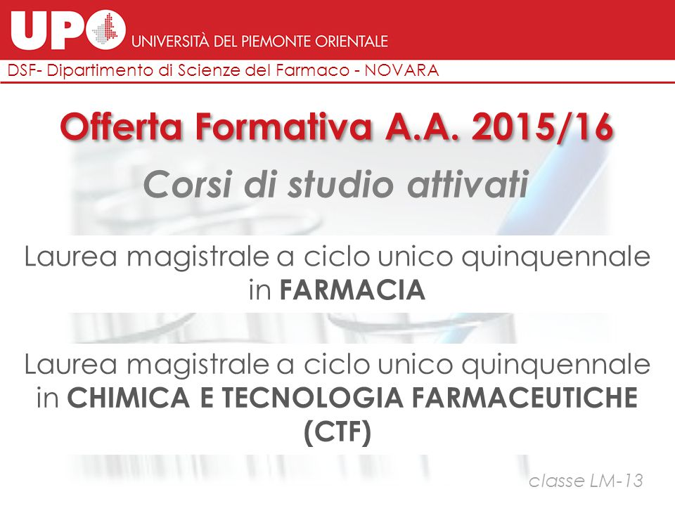 … alla pratica in laboratorio