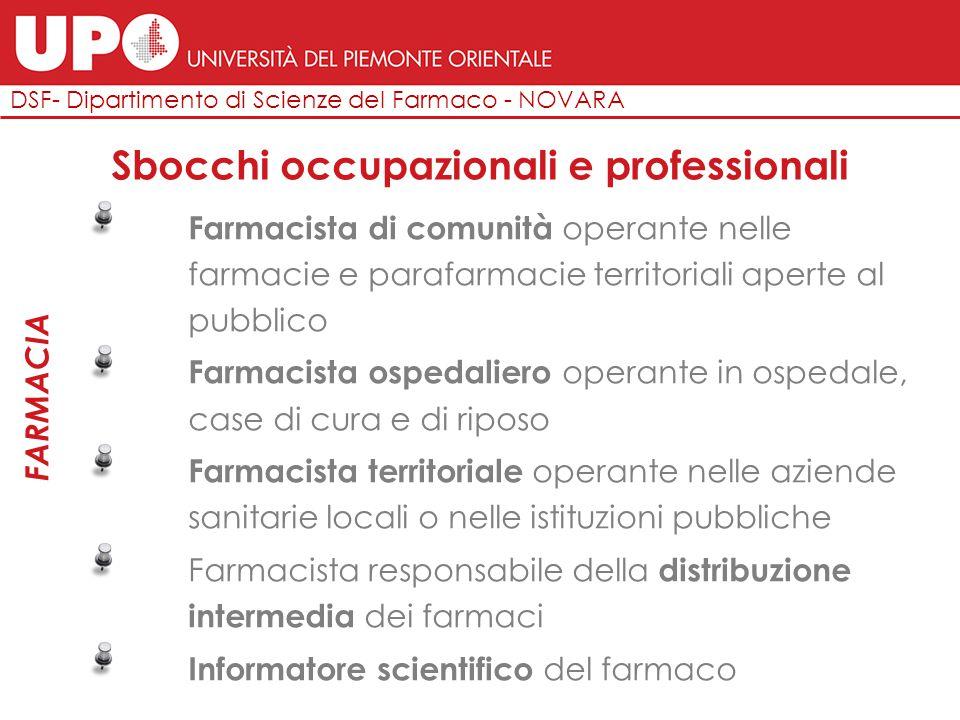 FARMACIA DSF- Dipartimento di Scienze del Farmaco - NOVARA