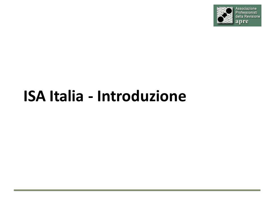 ISA Italia - Introduzione