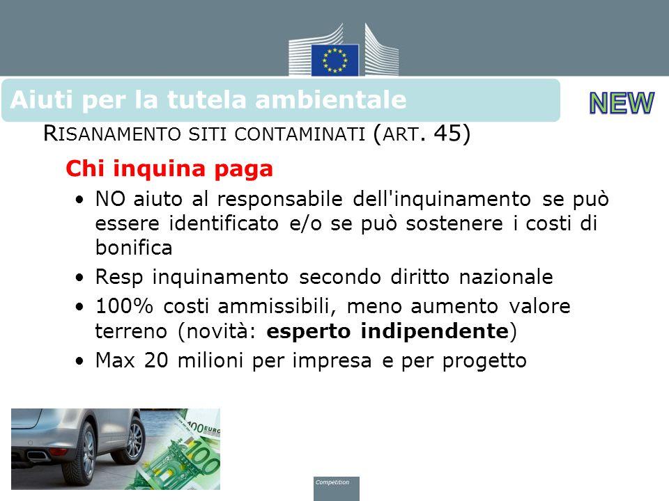 Risanamento siti contaminati (art. 45)