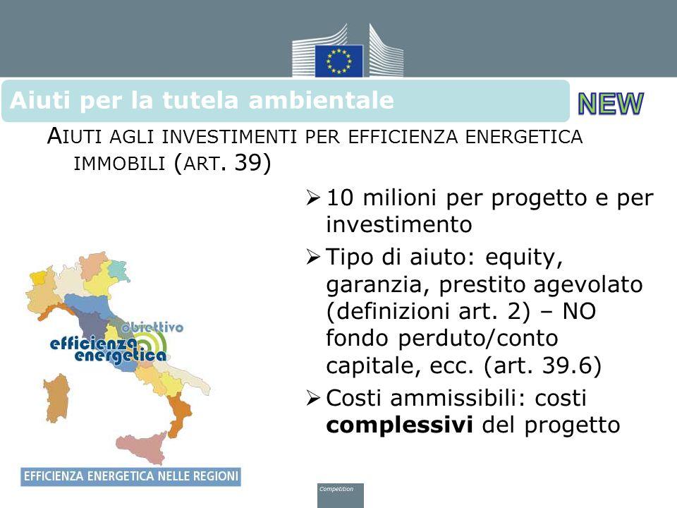 Aiuti agli investimenti per efficienza energetica immobili (art. 39)