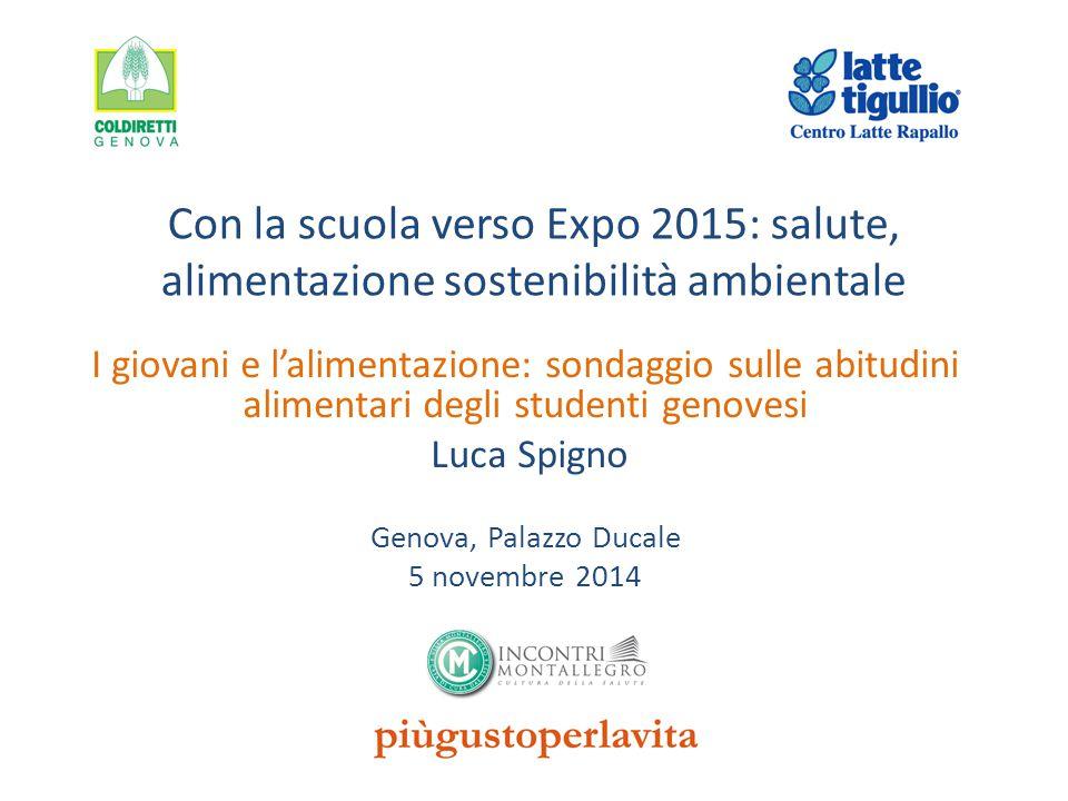 Con la scuola verso Expo 2015: salute, alimentazione sostenibilità ambientale