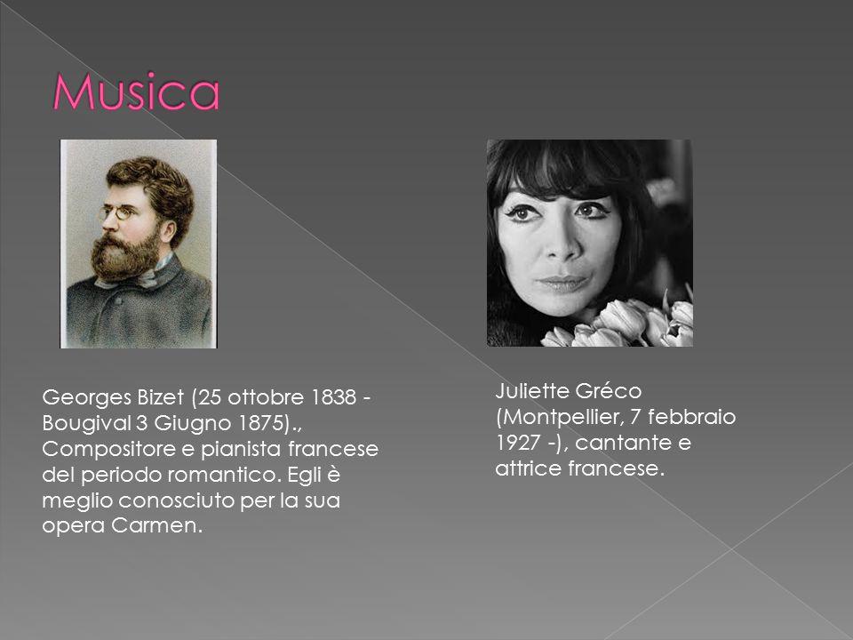 Musica Juliette Gréco (Montpellier, 7 febbraio 1927 -), cantante e attrice francese.