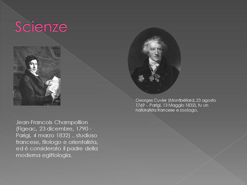Scienze Georges Cuvier (Montbéliard, 23 agosto 1769 -. Parigi, 13 Maggio 1832), fu un naturalista francese e zoologo.