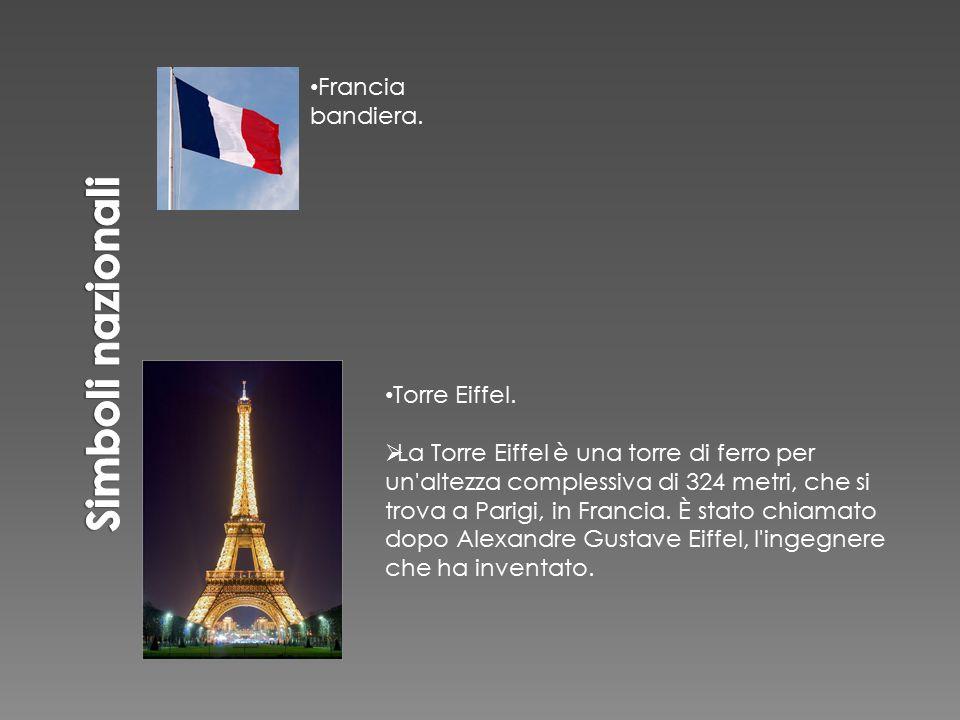 Simboli nazionali Francia bandiera. Torre Eiffel.