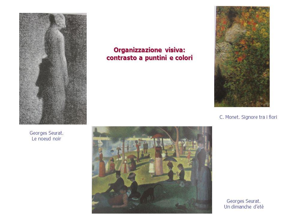 Organizzazione visiva: contrasto a puntini e colori