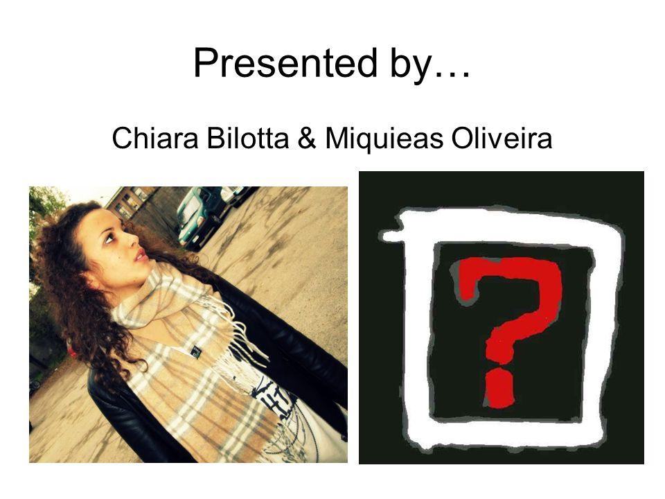 Chiara Bilotta & Miquieas Oliveira