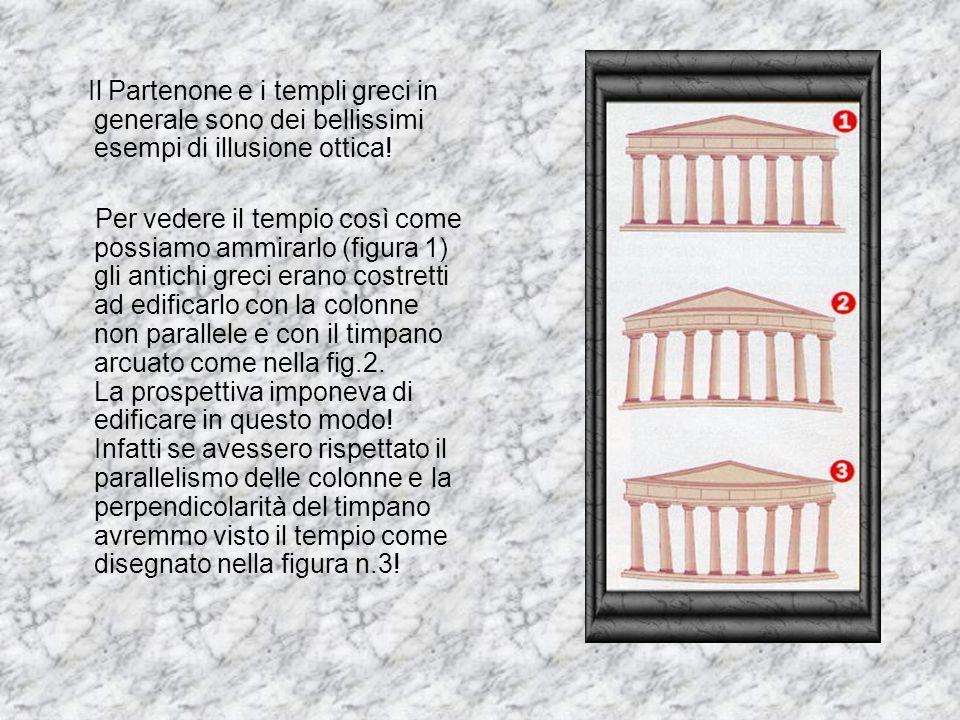 Il Partenone e i templi greci in generale sono dei bellissimi esempi di illusione ottica!