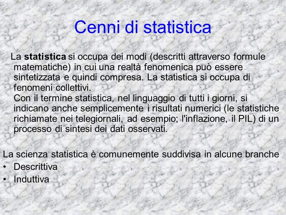 Cenni di statistica