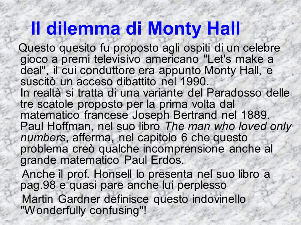 Il dilemma di Monty Hall
