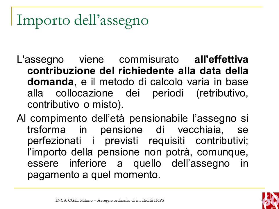INCA CGIL Milano – Assegno ordinario di invalidità INPS