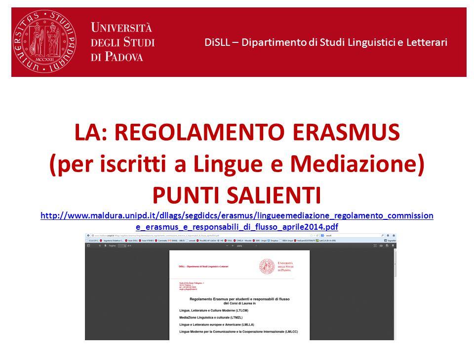 DiSLL – Dipartimento di Studi Linguistici e Letterari