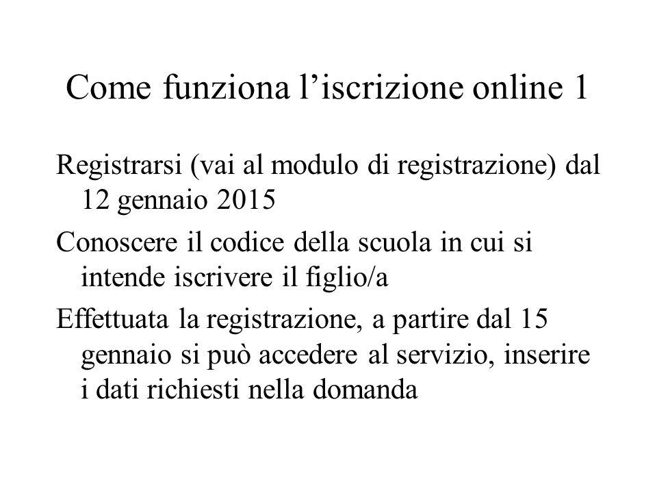 Come funziona l'iscrizione online 1