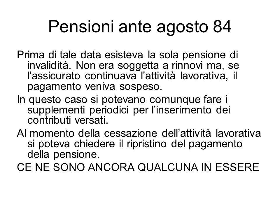 Pensioni ante agosto 84