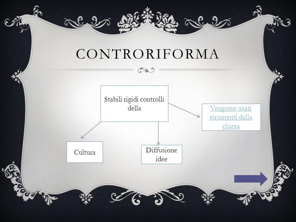 controriforma Stabilì rigidi controlli della