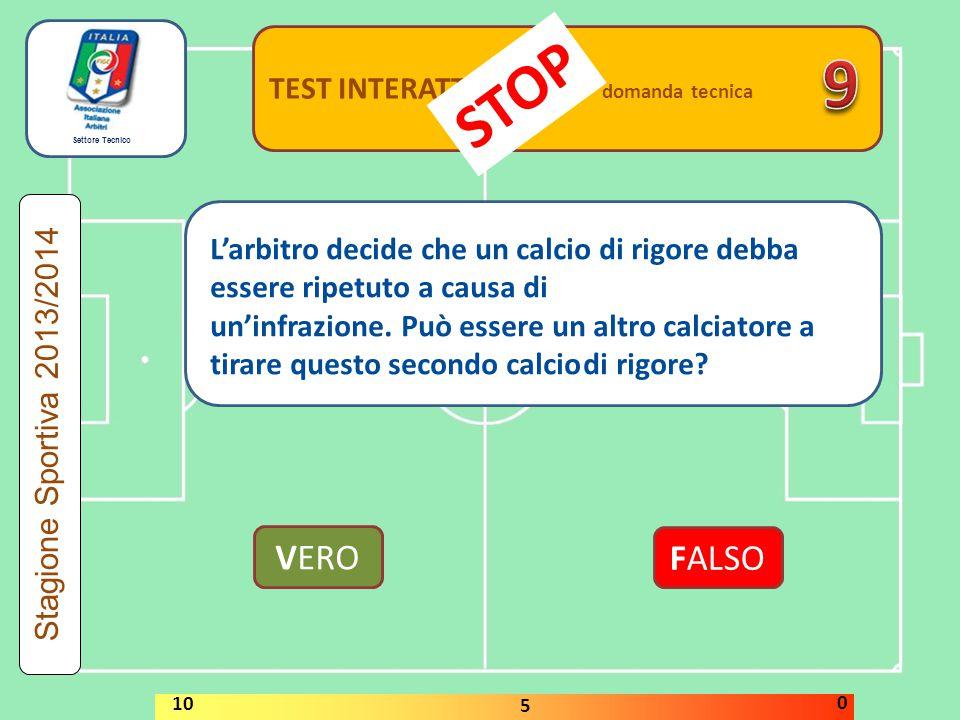 9 STOP VERO FALSO TEST INTERATTIVI domanda tecnica