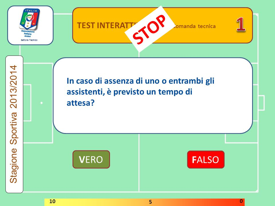 1 STOP VERO FALSO TEST INTERATTIVI domanda tecnica