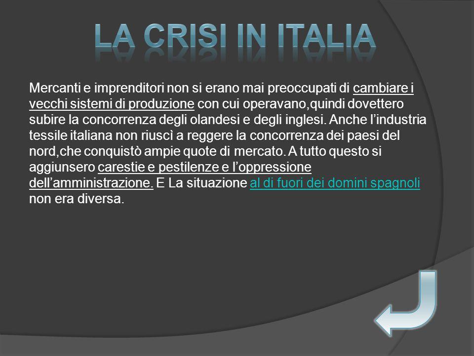 La crisi in Italia