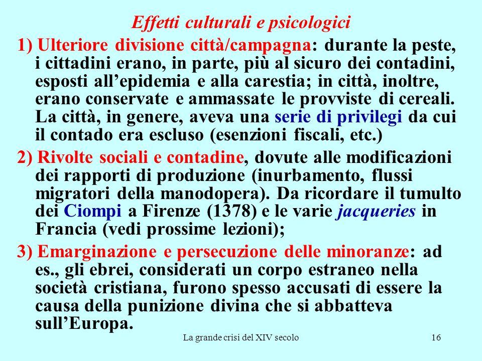 Effetti culturali e psicologici