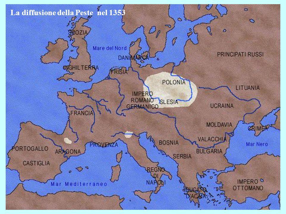 La diffusione della Peste nel 1353
