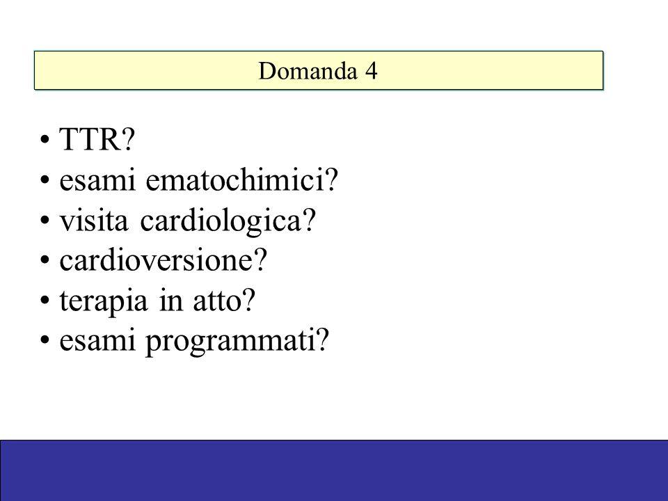 TTR esami ematochimici visita cardiologica cardioversione