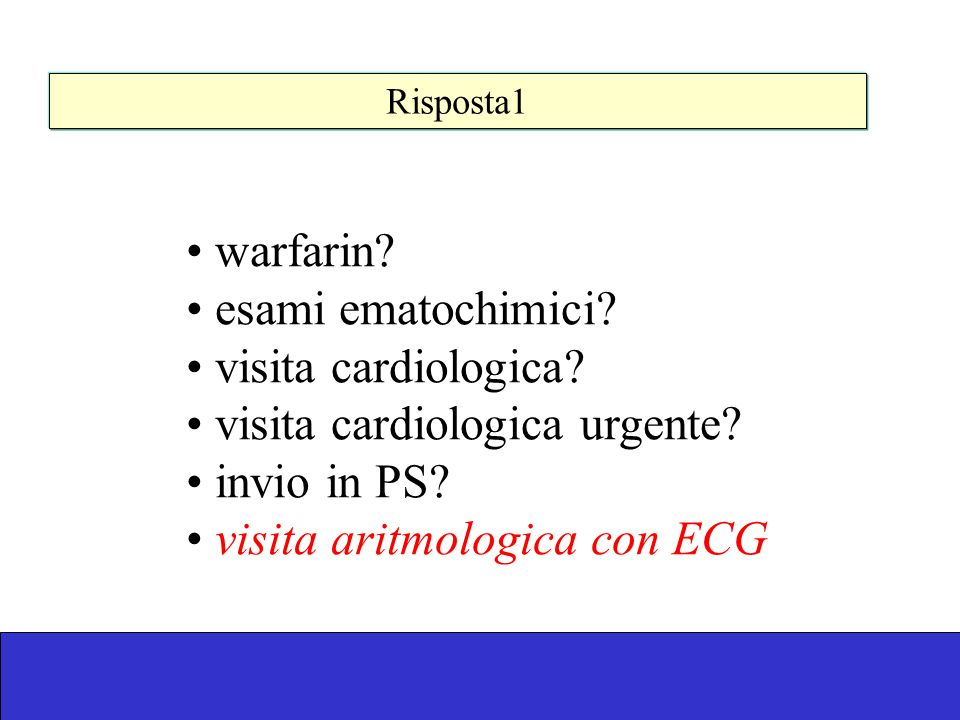 visita cardiologica urgente invio in PS visita aritmologica con ECG