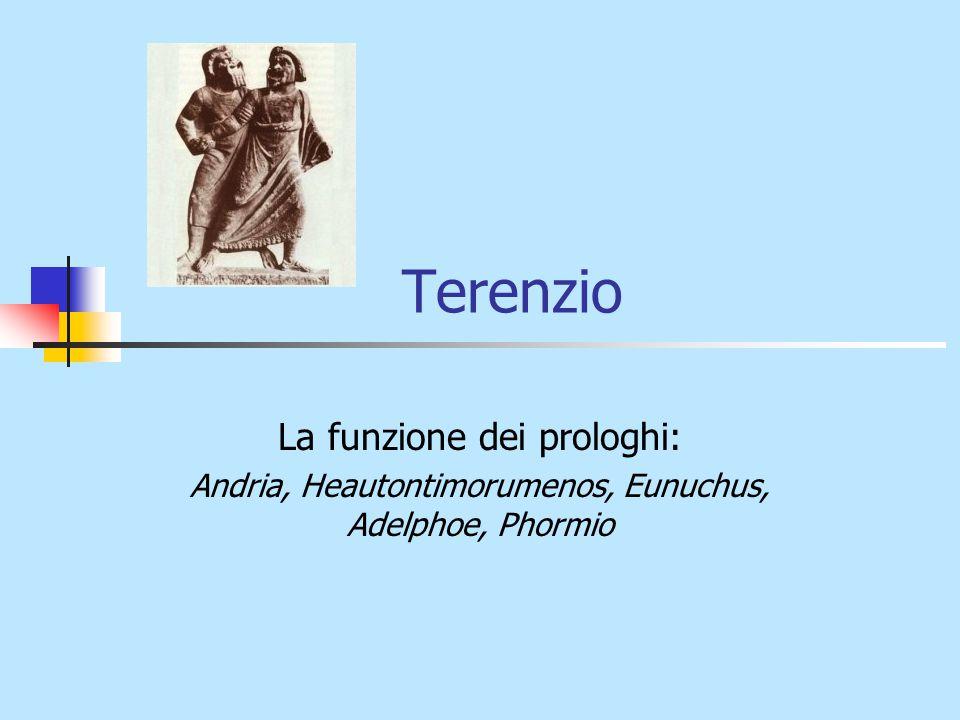 Terenzio La funzione dei prologhi: