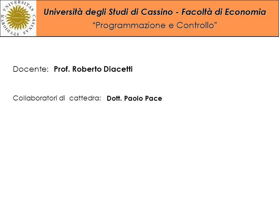 Docente: Prof. Roberto Diacetti Collaboratori di cattedra: