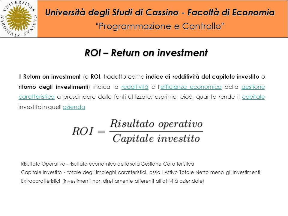 ROI – Return on investment