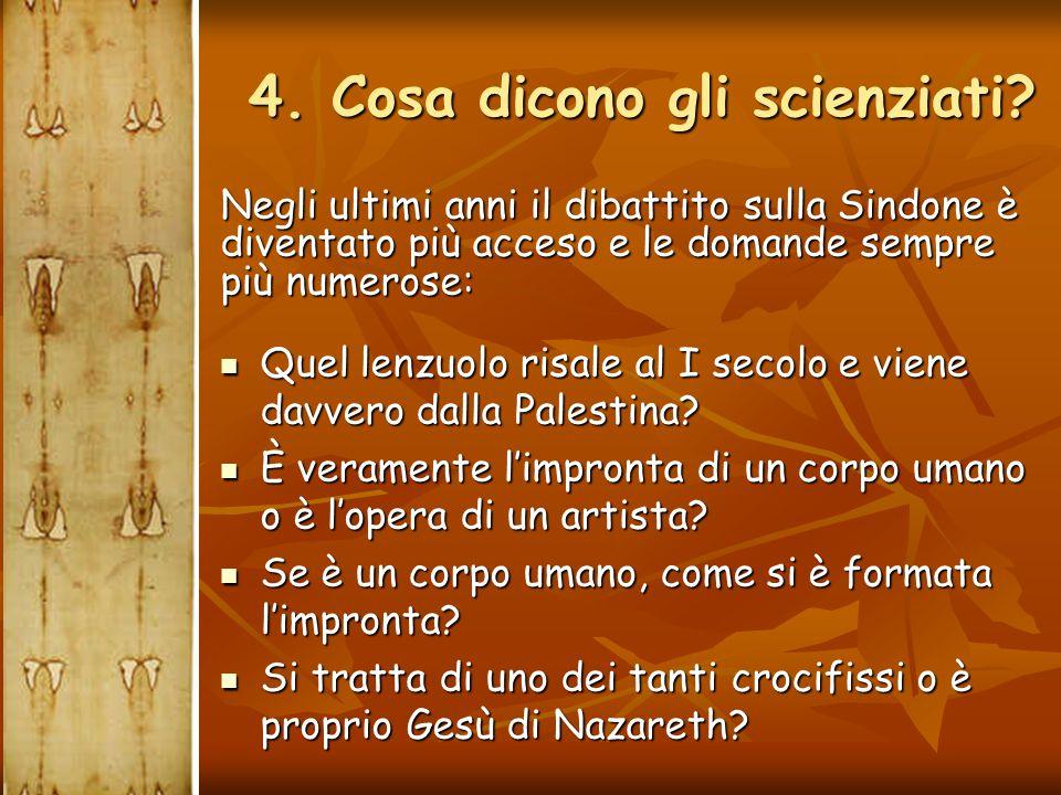 4. Cosa dicono gli scienziati