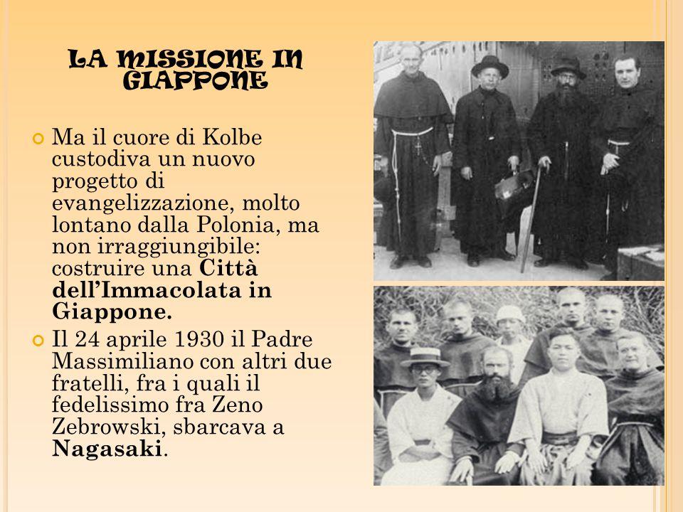 LA MISSIONE IN GIAPPONE