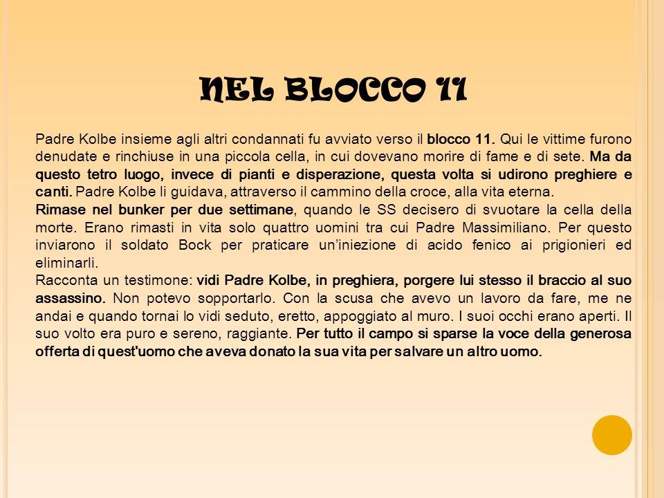 NEL BLOCCO 11