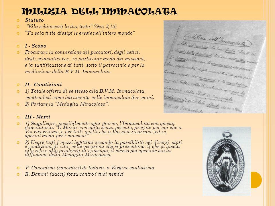 MILIZIA DELL'IMMACOLATA