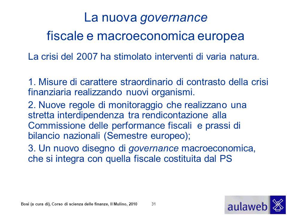 La nuova governance fiscale e macroeconomica europea