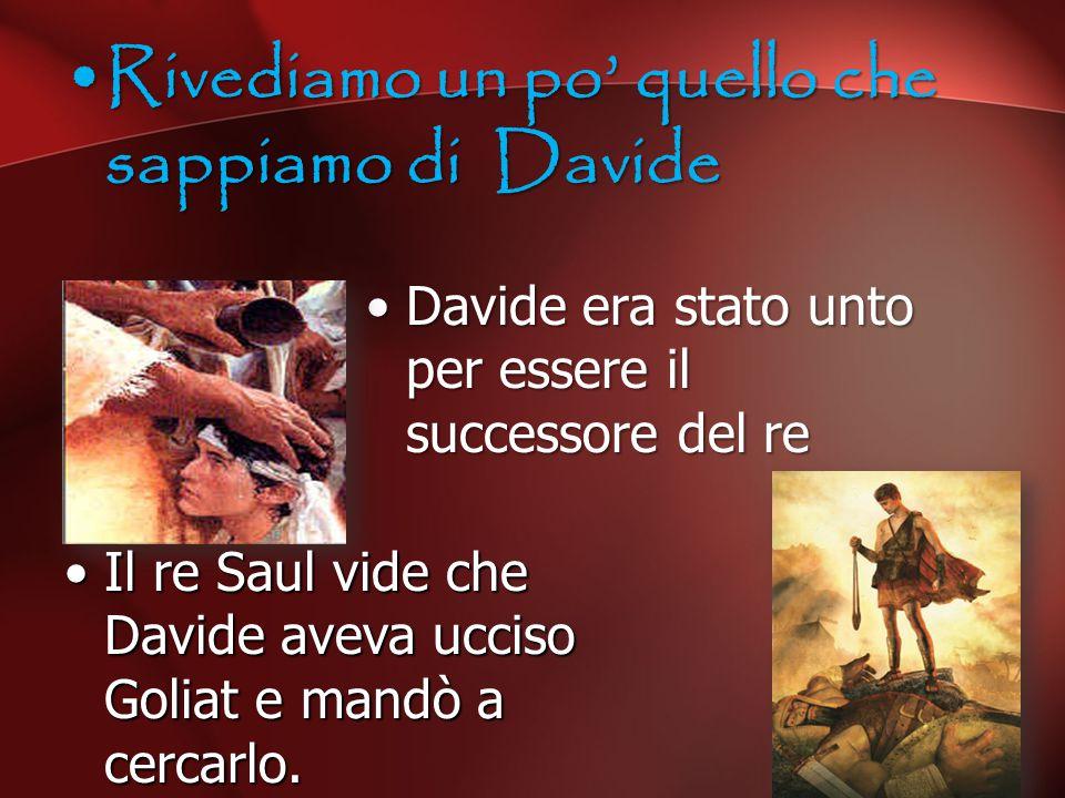 Rivediamo un po' quello che sappiamo di Davide