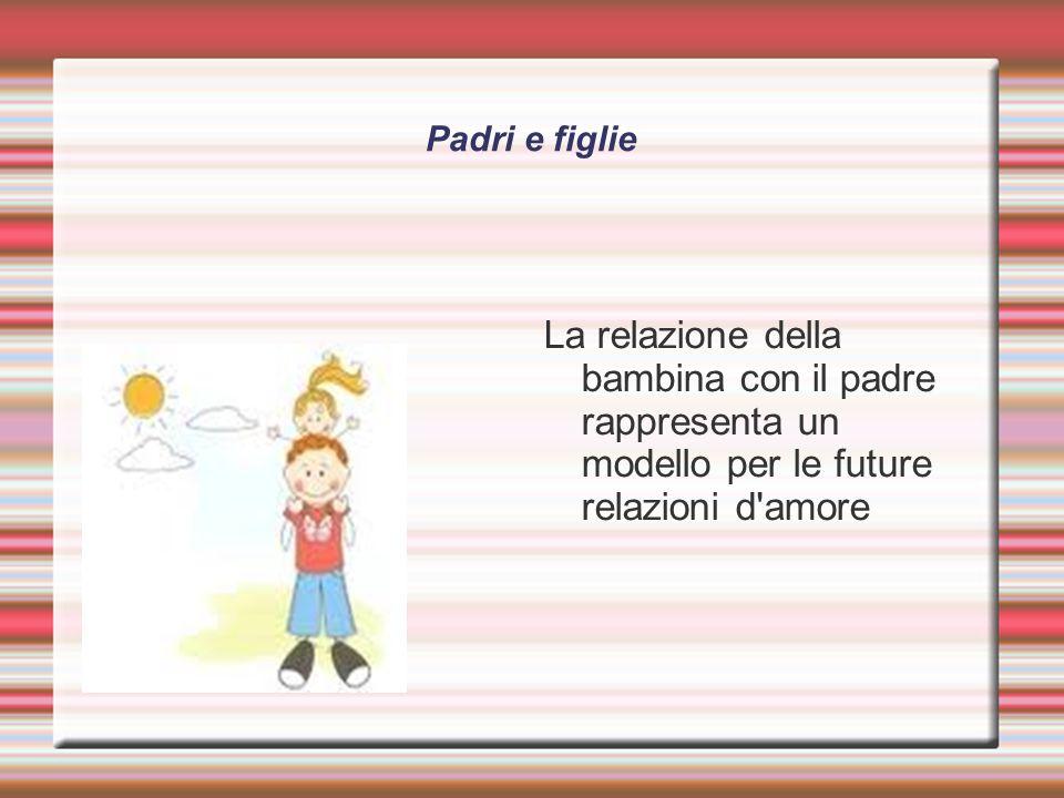 Padri e figlie La relazione della bambina con il padre rappresenta un modello per le future relazioni d amore.