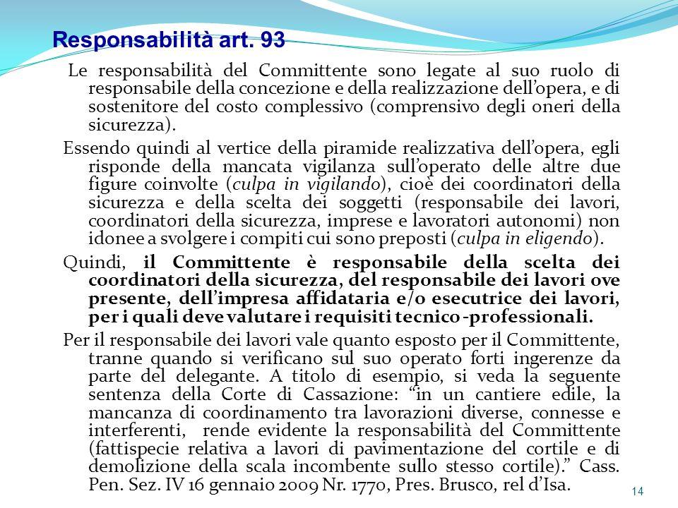 Responsabilità art. 93