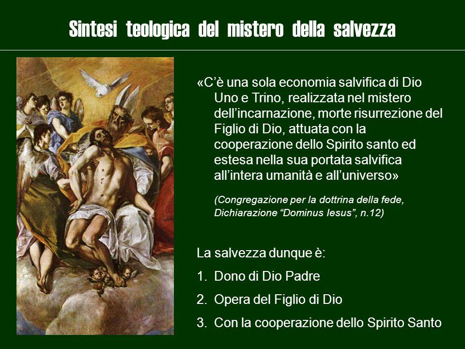 Sintesi teologica del mistero della salvezza