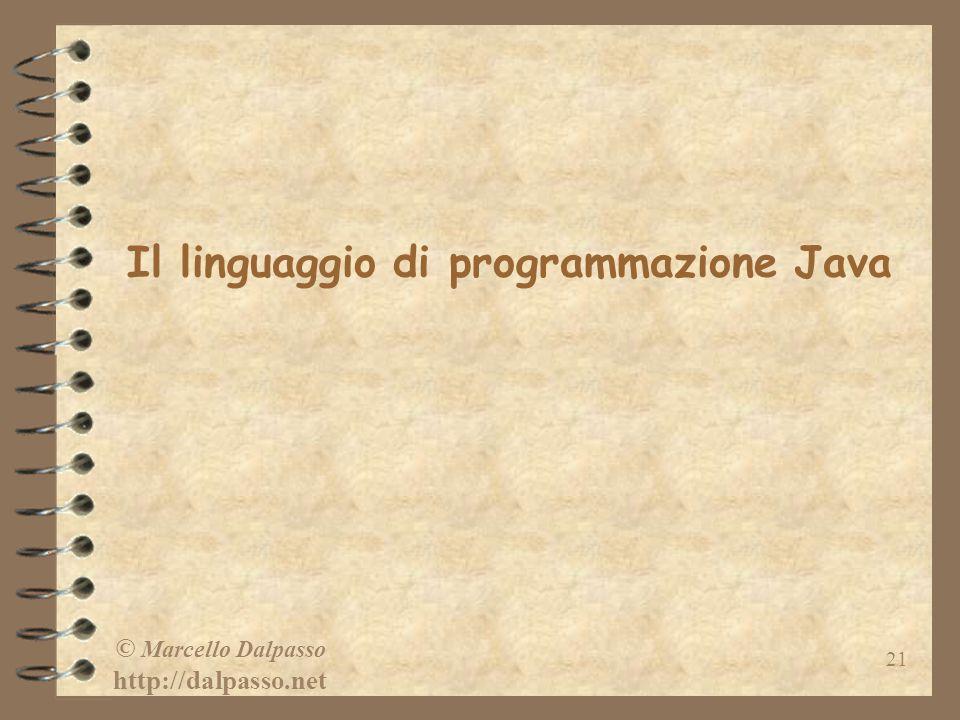 Il linguaggio di programmazione Java