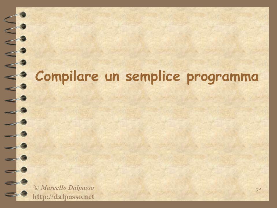 Compilare un semplice programma