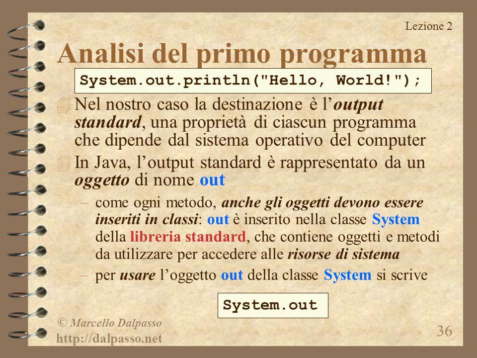 Analisi del primo programma