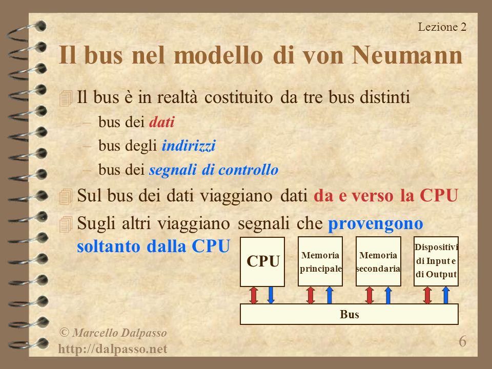 Il bus nel modello di von Neumann