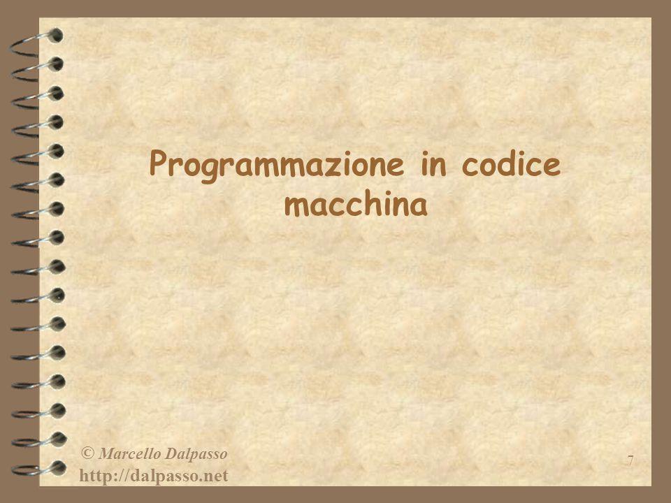 Programmazione in codice macchina