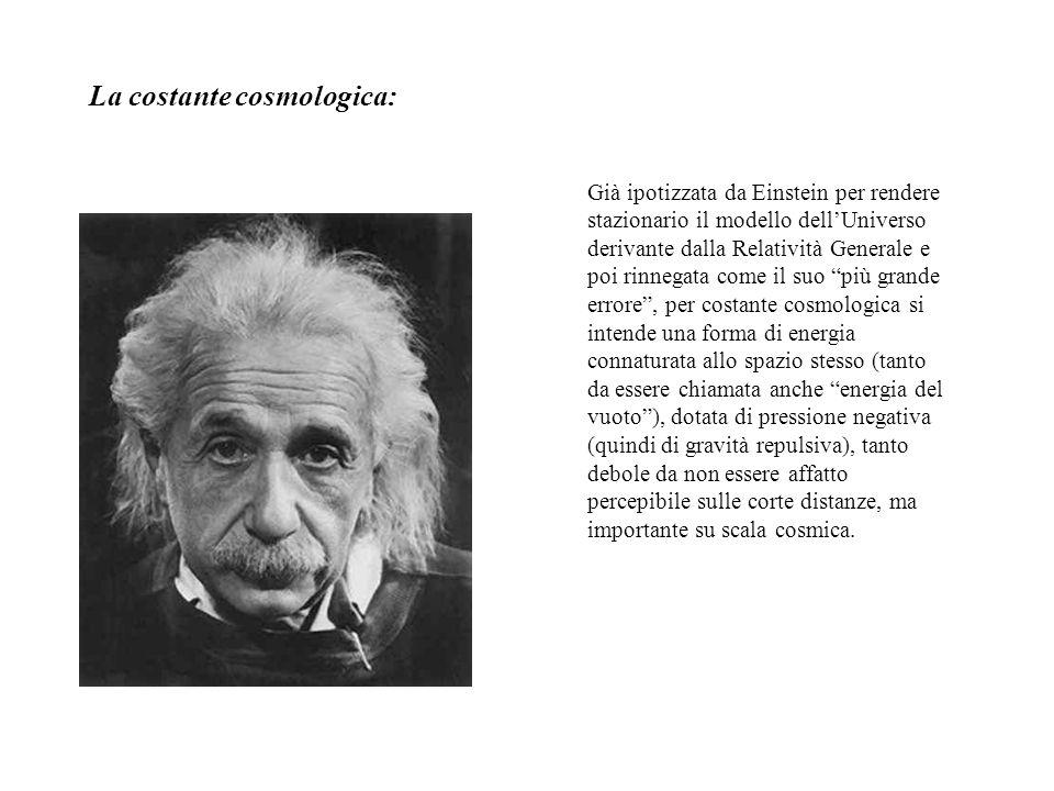 La costante cosmologica: